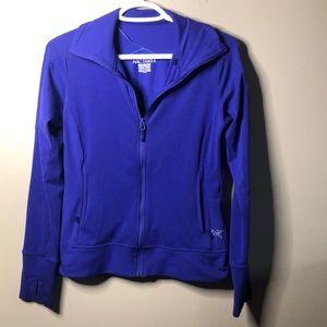 Arcteryx purple zip up sweater